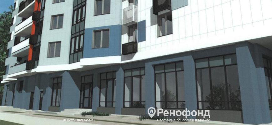 в районе Лосиноостровский достроили дом по реновации на ул Изумрудная