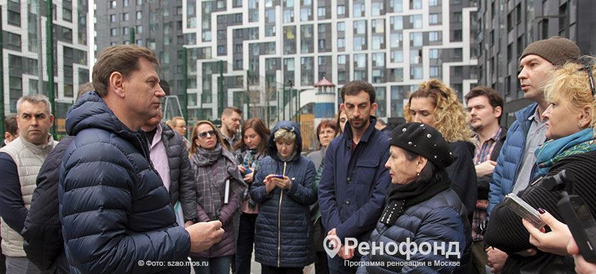Жители Южного Тушино обсудили с префектом СЗАО реновацию